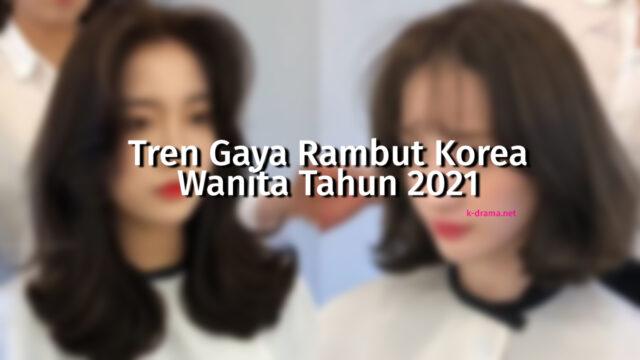 model rambut korea wanita